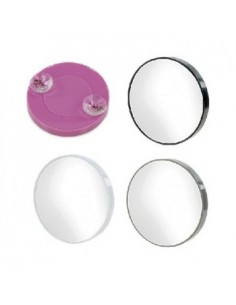 Pocket mirror with suction cups