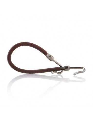 Brown elastic band with hook