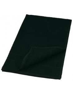 Black cotton towel